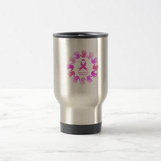 Breast cancer awareness support travel mug