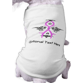 Breast Cancer Awareness Tribal Design Sleeveless Dog Shirt