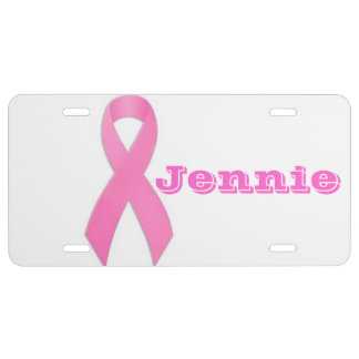 Breast Cancer Awarness Auto Tag License Plate