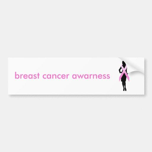 breast cancer awarness bumper sticker