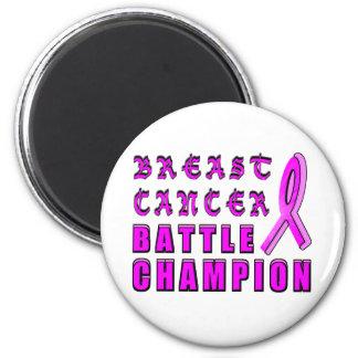 Breast Cancer Battle Champion 6 Cm Round Magnet