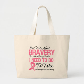 Breast Cancer Battle Jumbo Tote Bag