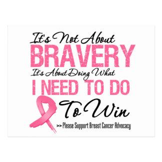 Breast Cancer Battle Postcard