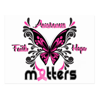 Breast Cancer Butterfly 7 Postcard