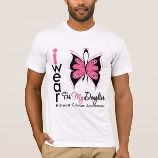Breast Cancer Butterfly Ribbon For My Daughter T-Shirt