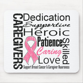 Breast Cancer Caregivers Collage Mouse Pad