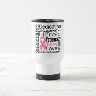 Breast Cancer Caregivers Collage Stainless Steel Travel Mug