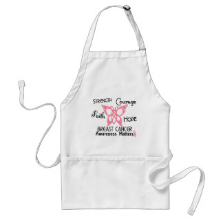 Breast Cancer Celtic Butterfly 3 Adult Apron