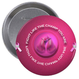 Breast Cancer Champ 10 Cm Round Badge