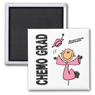 Breast Cancer CHEMO GRAD 1 Square Magnet