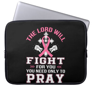 Breast Cancer Christian Lord Figh You Pray Laptop Sleeve