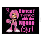 Breast Cancer Combat Girl 1 Card