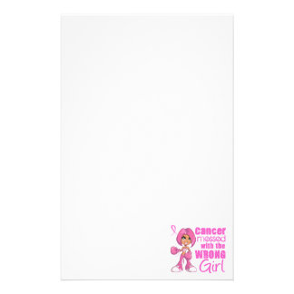 Breast Cancer Combat Girl 1 Customised Stationery