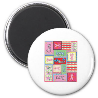 Breast Cancer Cure Collage 6 Cm Round Magnet