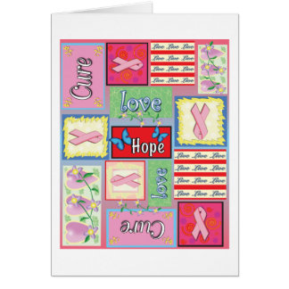 Breast Cancer Cure Collage Card