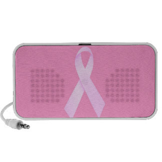 Breast cancer customizable speakers pink