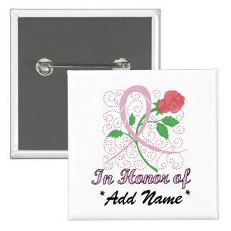 Breast  Cancer Customizable Square Button