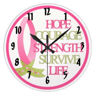 Breast Cancer Design Large Clock