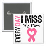 Breast Cancer Everyday I Miss My Mum 15 Cm Square Badge