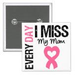 Breast Cancer Everyday I Miss My Mum 15 Cm Square Badge