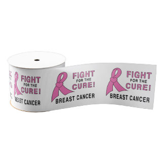 """Breast Cancer Fight for the Cure 3"""" Grosgrain Ribbon"""