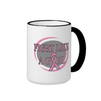 Breast Cancer Fight Like A Girl Circular Mugs
