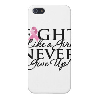 Breast Cancer Fight Like a Girl Never Give Up iPhone 5/5S Cases