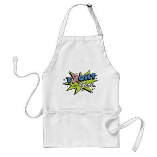 Breast Cancer Fight Like A Girl POW! Aprons