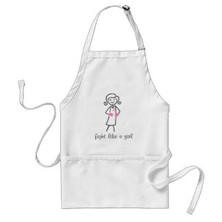 Breast Cancer Fight Like A Girl (Retro) Apron