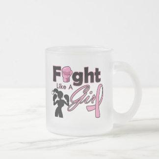 Breast Cancer Fight Like A Girl Silhouette Coffee Mug