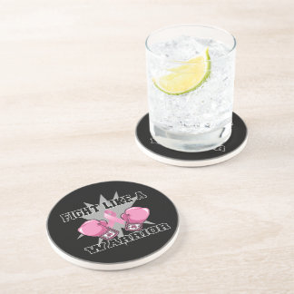 Breast Cancer Fight Like a Warrior Beverage Coaster