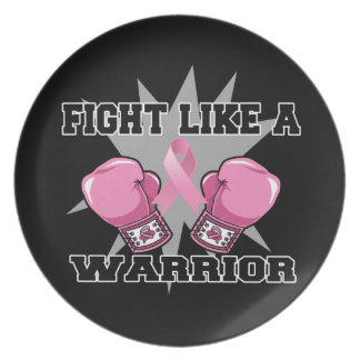 Breast Cancer Fight Like a Warrior Party Plates