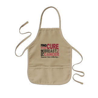BREAST CANCER Find The Cure 1 Kids Apron