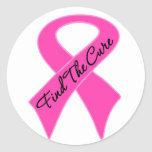 Breast Cancer Find The Cure Round Sticker