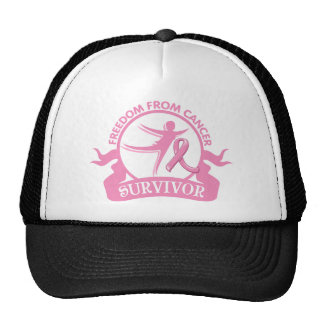 Breast Cancer - Freedom From Cancer Survivor Trucker Hats