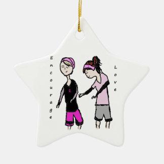 Breast Cancer Friendship Encouragement Ornament