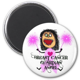Breast Cancer Guardian Angel 6 Cm Round Magnet