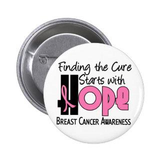 Breast Cancer HOPE 4 6 Cm Round Badge
