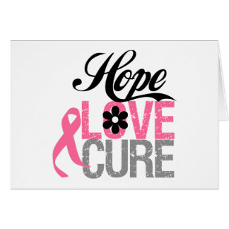 Breast Cancer HOPE LOVE CURE Gifts Greeting Card