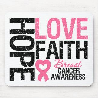 Breast Cancer Hope Love Faith Mouse Pad