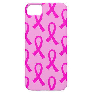 Breast Cancer Hot Pink Ribbon Pattern iPhone 5 Cases