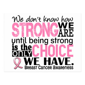 Breast Cancer How Strong We Are Postcard