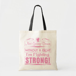 Breast Cancer I Am Fighting Strong Tote Bags