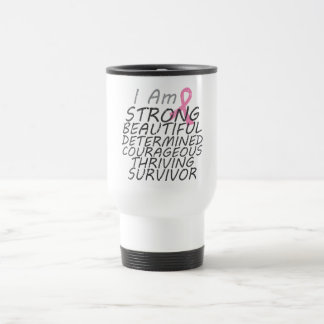 Breast Cancer I Am Strong Survivor Mug