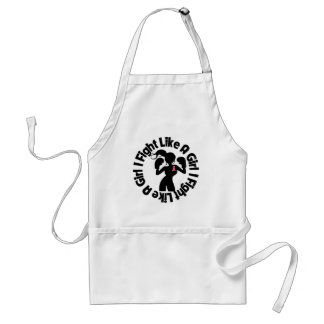 Breast Cancer I Fight Like A Girl Pose Standard Apron