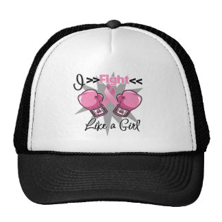 Breast Cancer I Fight Like a Girl With Gloves Cap