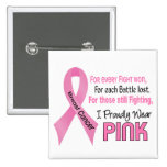Breast Cancer I Proudly Wear Pink 1 Pin