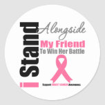 Breast Cancer I Stand Alongside My Friend Sticker