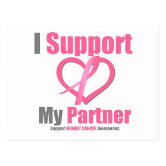 Breast Cancer I Support My Partner Postcard