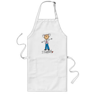 Breast Cancer I Support Tshirts and Gifts Long Apron